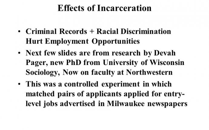 Racial Disparities in Criminal Justice in Wisconsin Pamela Oliver