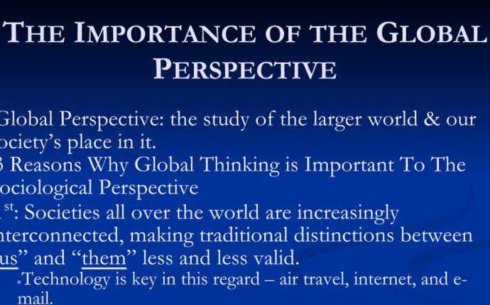 The Importance of the Global Perspective - Google Slides